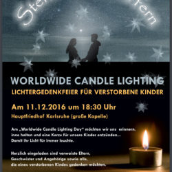 Worldwide Candle Lighting 11. Dezember 2016